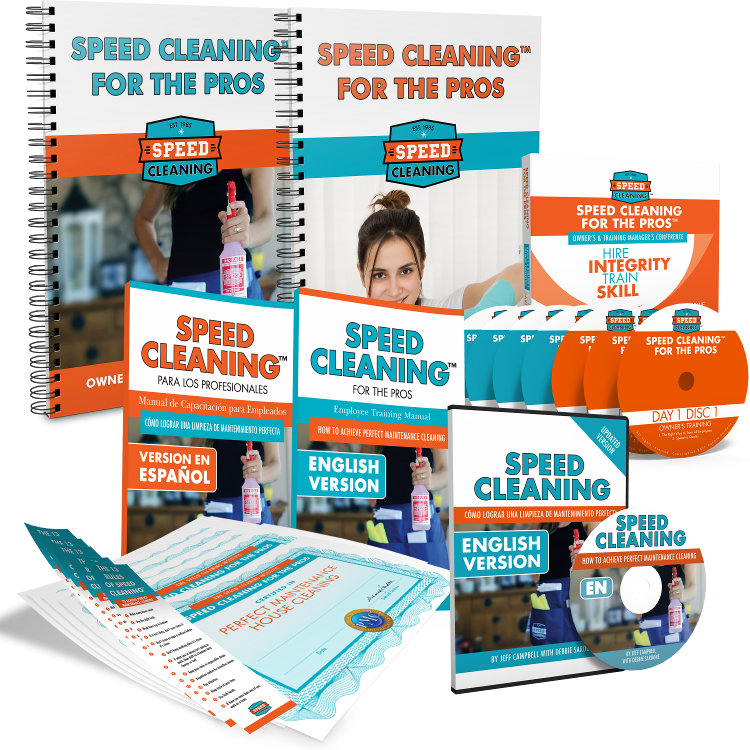 speed cleaning for the pros employee training system speed rh thecleanteam com House Cleaning Tips house cleaning training manual pdf