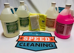 Speed Cleaning™ 4 PRO Gallons Bundle -  2 Scum Bum and 1 Sh-Clean Floor Cleaner 1 Red Juice Concentrate  (each 128 oz.) PLUS FREE Gift !