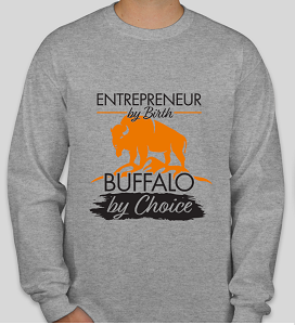 T Shirt - Entrepreneur By Birth Gray Long Sleeve