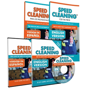 Speed Cleaning™ DVD with  Speed Cleaning for Pros Book both in Spanish and English (4 items)