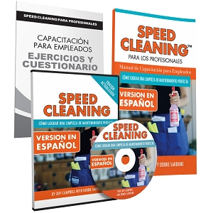 Speed Cleaning™ SPANISH Employee Training Trio for House Cleaning Professionals (DVD, Book, Workbook/Quiz)