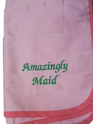 Custom Embroidery for Apron - NAME only NO LOGO