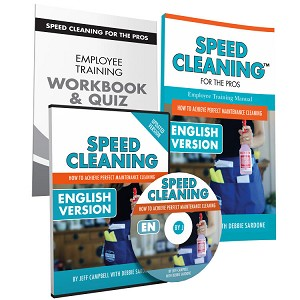 Speed Cleaning™ Employee Training Trio for House Cleaning Professionals (DVD, Book, Workbook/Quiz)