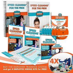 Speed Cleaning™ For The Pros Employee Training System + Four Employee Grab N Go Hiring Kits