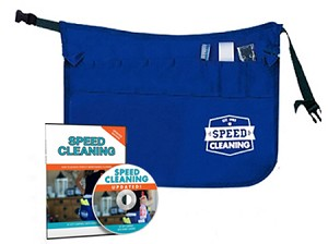 Speed Cleaning™ Apron Kit - Apron, Tool Kit (3 pc) and DVD Save 22%!  Plain apron available.