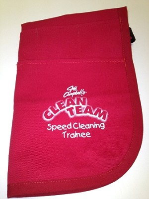 Speed Cleaning™ Red-Clean Team Trainee Childrens Apron w/o loops